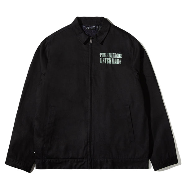 THE HUNDREDS X NEVER MADE FLAG TEAR JACKET BLACK