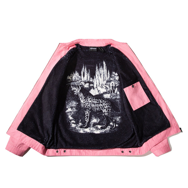 THE HUNDREDS X NEVER MADE FLAG TEAR JACKET PINK