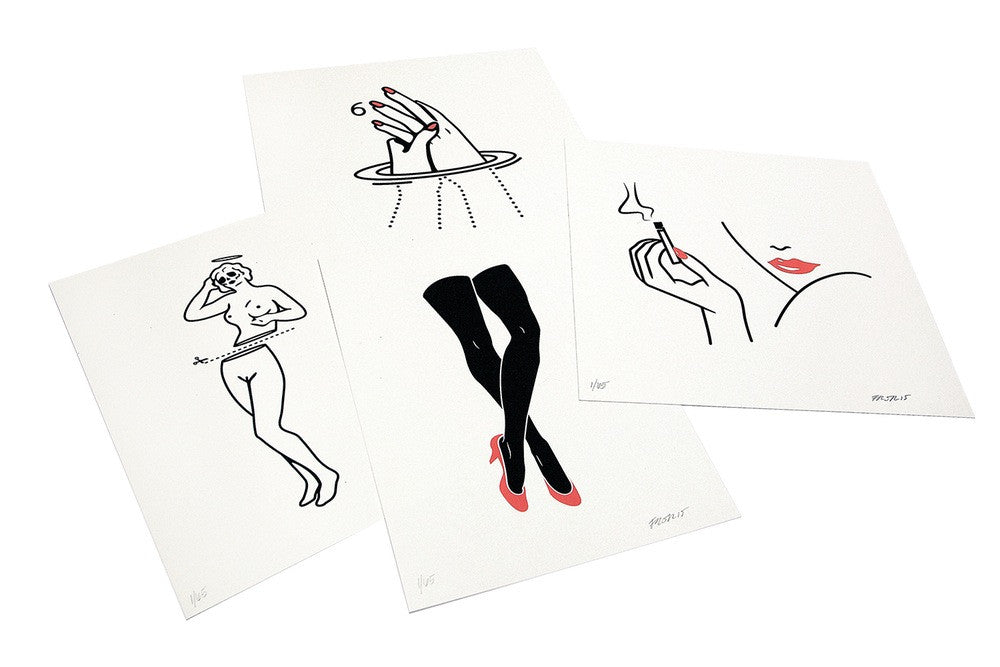 She - Studies (Series) | 4 Limited Edition Screen Prints | Never Made