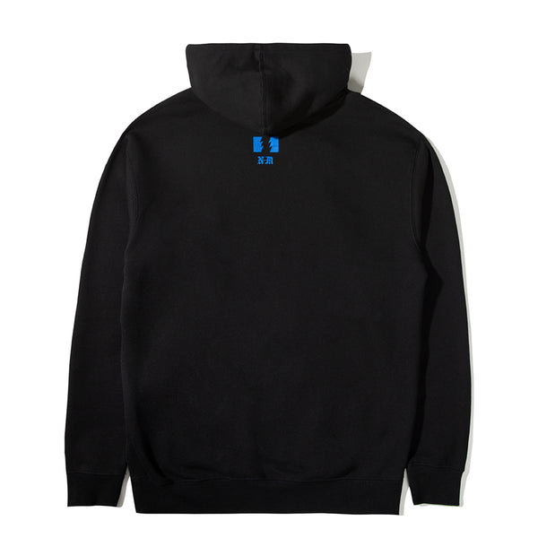 THE HUNDREDS X NEVER MADE SMASH PULLOVER BLACK