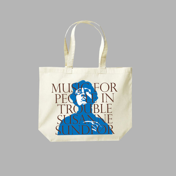 LAMENTO BLUE NATURAL TOTE BAG