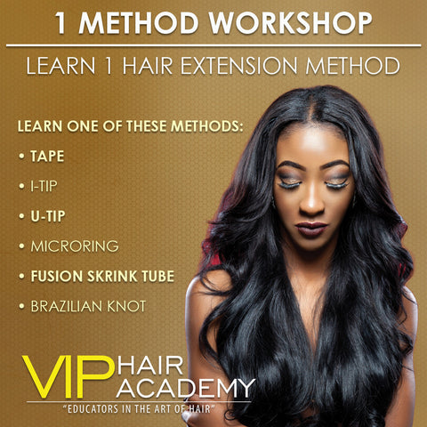 Learn a Hair Extension Method Workshop - VIP Extensions