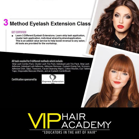3 Method Eyelash Extension Class - VIP Extensions