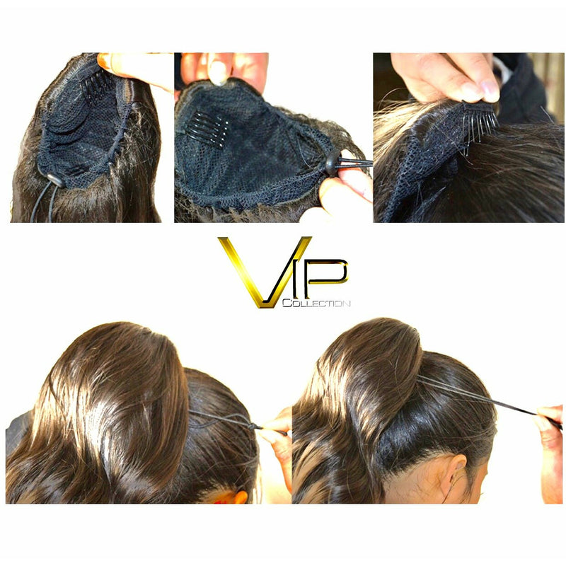 VIP Synthetic Claw Clip Ponytail - Sapphire
