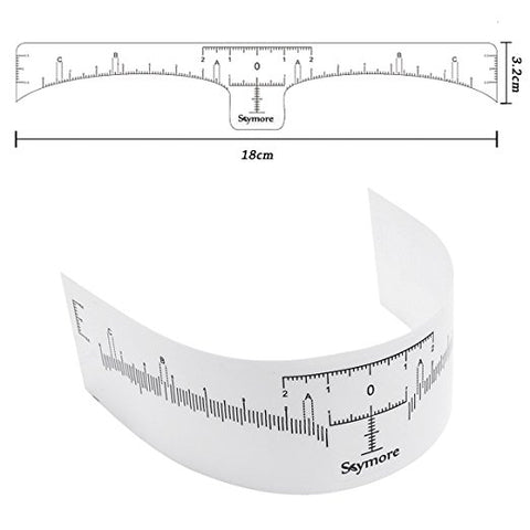 Disposable Eyebrow Ruler Sticker, Adhesive Eyebrow Microblading Ruler Guide For makeup tool - BeautyGiant USA