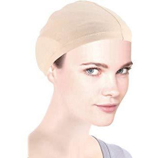 Bamboo Wig Liner Cap in Beige 2 pc Pack - BeautyGiant USA