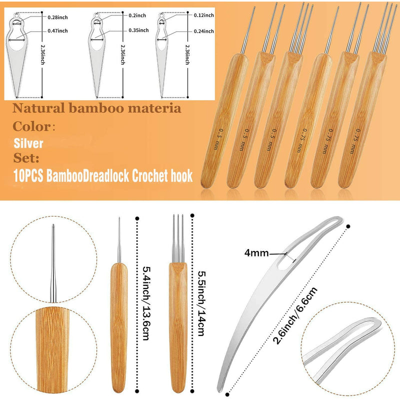 Dreadlocks Crochet Hooks Set 12PCS