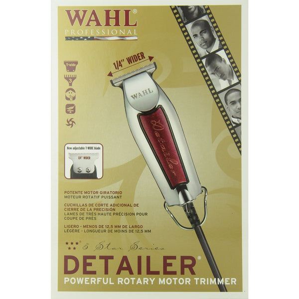 Wahl Professional 8081 5-star Series Detailer Powerful Rotary Motor Trimmer - BeautyGiant USA