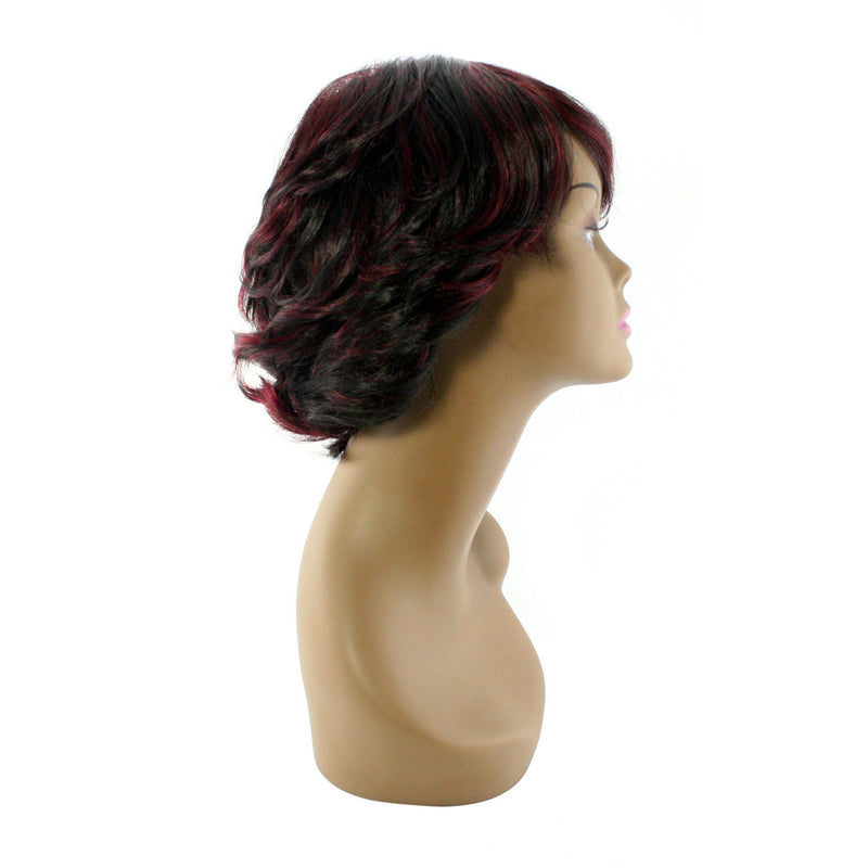 "Unique's 100% Human Hair Full Wig / Style ""W"" - BeautyGiant USA"