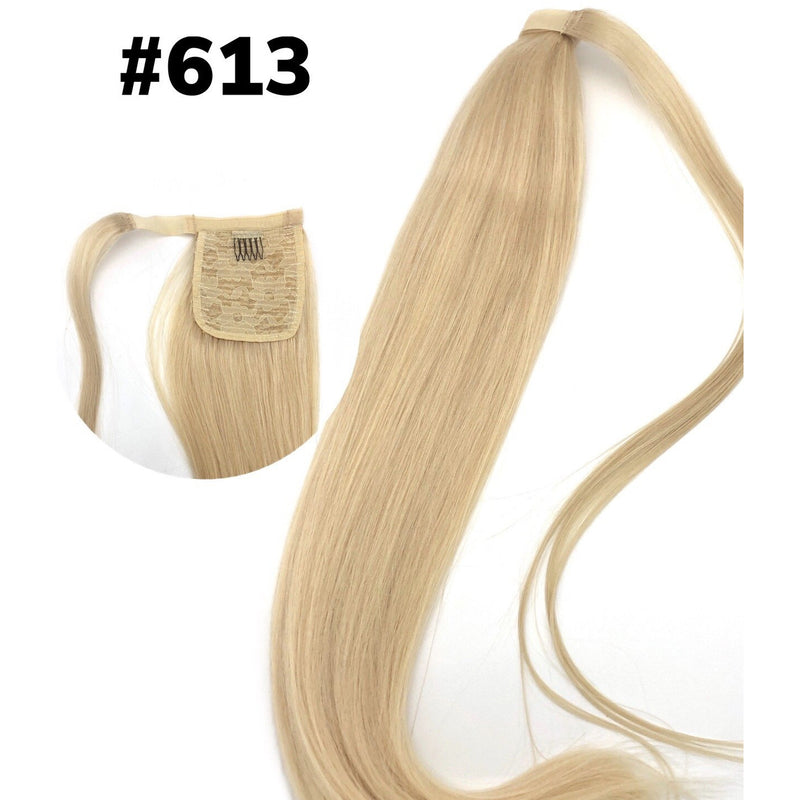 "Unique VIP 100% Remy Human Hair Collection 100 grams PONYTAIL Silky 24"" - BeautyGiant USA"