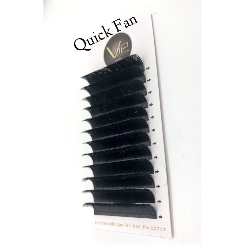VIP Quick Fan Lash Extensions - 12 lines 0.07 D Curl - BeautyGiant USA