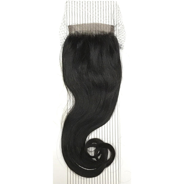 "4 by 13"" VIP Lace Frontals 16"" Indian Natural Black - BeautyGiant USA"