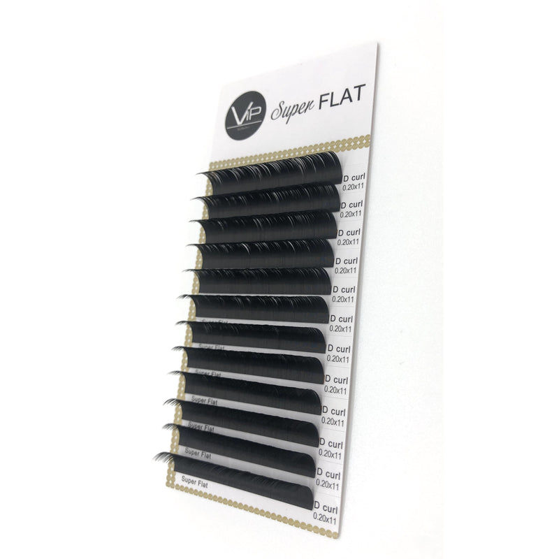 VIP Eyelashes - Super Flat Extensions - 12 lines - 0.20 D - BeautyGiant USA