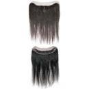 "4 by 13"" VIP Lace Frontals 16""Peruvian Straight Natural Black - BeautyGiant USA"