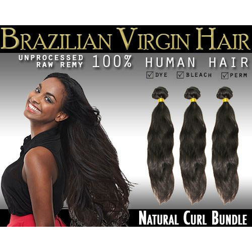 VIP Collection Brazilian Virgin Hair / Naturl Curl Bundles - BeautyGiant USA