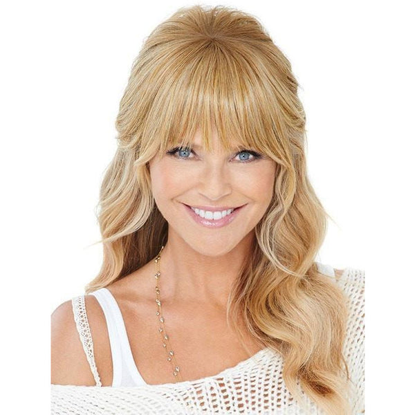 Christie Brinkley Natural Fringe Clip-in Bang  By HairUWear - BeautyGiant USA