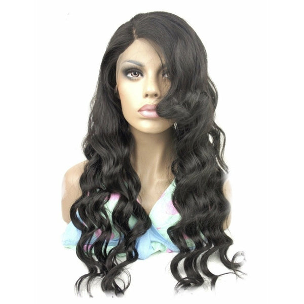 VIP - Full Lace Wig - 100% Human Hair Natural Black (180 density)Body Wave
