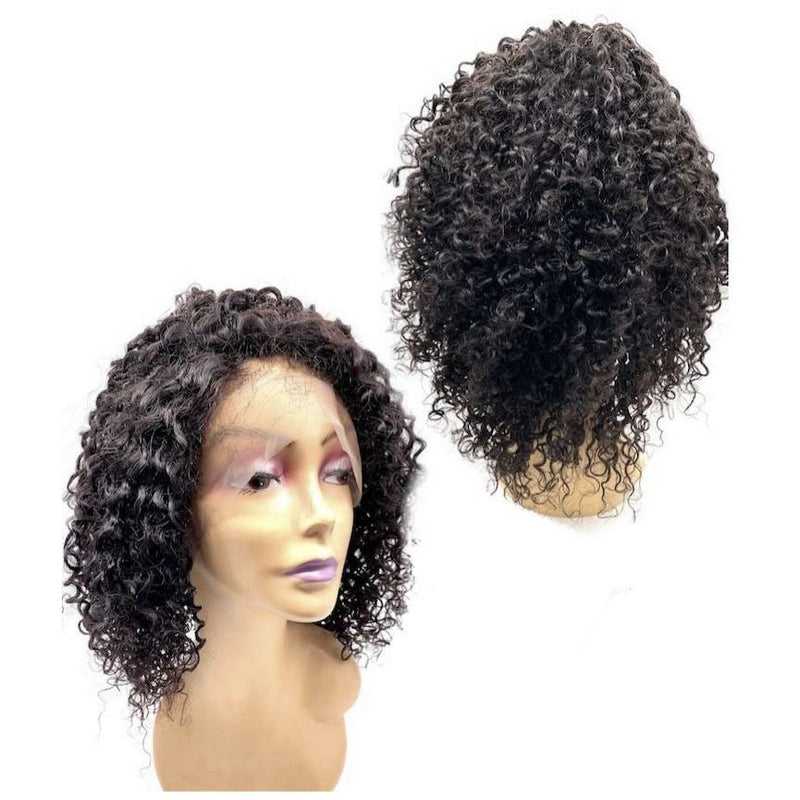 VIP - Full Lace Wig - 100% Human Hair Natural Black (180 density)Jerry curl