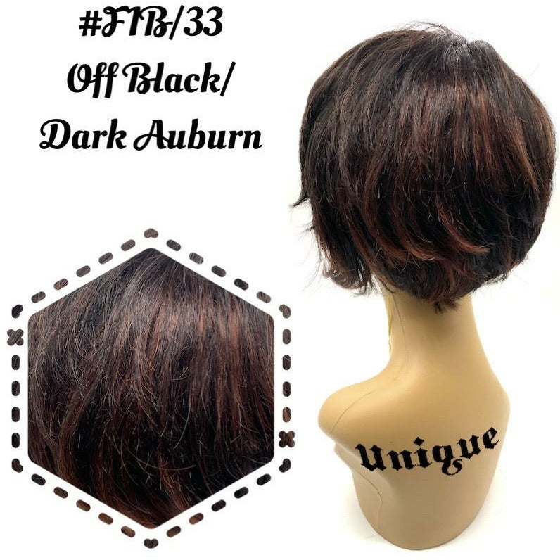 Unique 100% Human Hair Full Wig/Style Style A9