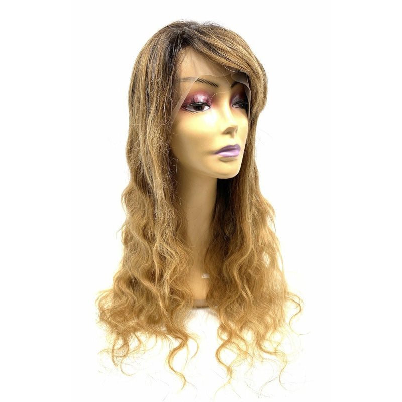 RIO Full Lace Human Hair Wig Body Wave Dipped in Gold -24''