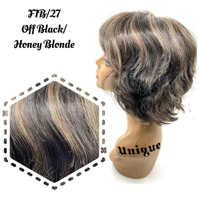 "Unique's 100% Human Hair Full Wig / Style ""W"""