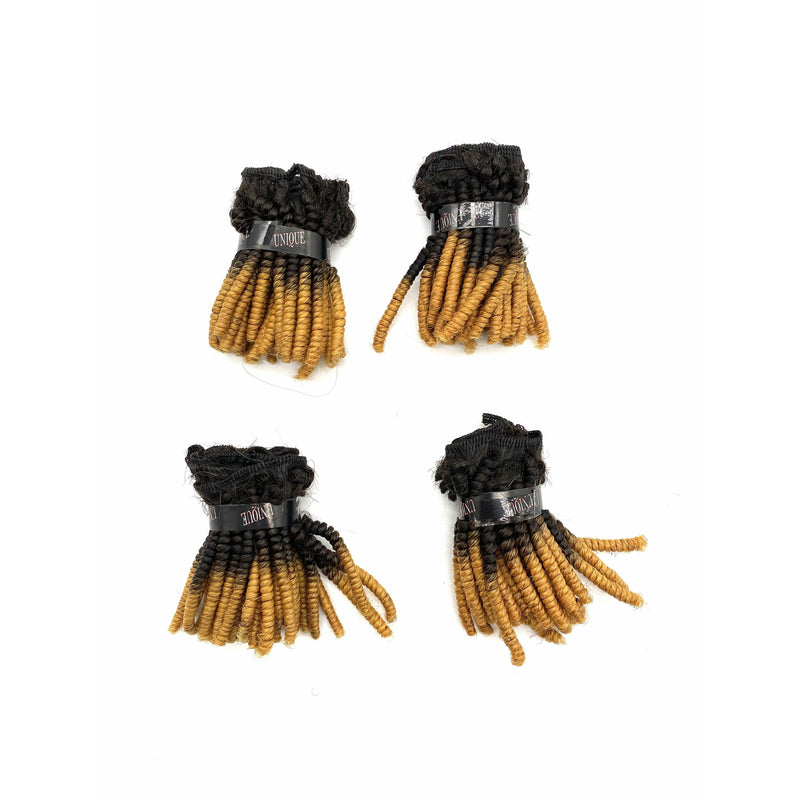 Unique Human Hair Tiny Afro 4 piece set