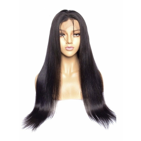 VIP - Full Lace Wig - 100% Human Hair Natural Black (180 density) Straight