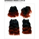 Unique's Human Hair Spanish Wave 4 Piece - BeautyGiant USA
