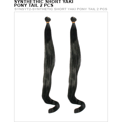 Unique's Synthetic 2 Piece Short Yaki Ponytail - VIP Extensions