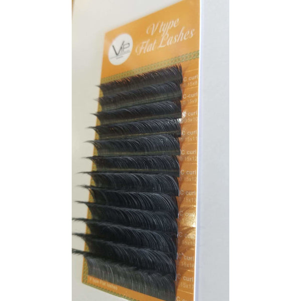 VIP - V Type Flat Lashes - 12 lines 0.15mm C curl - BeautyGiant USA