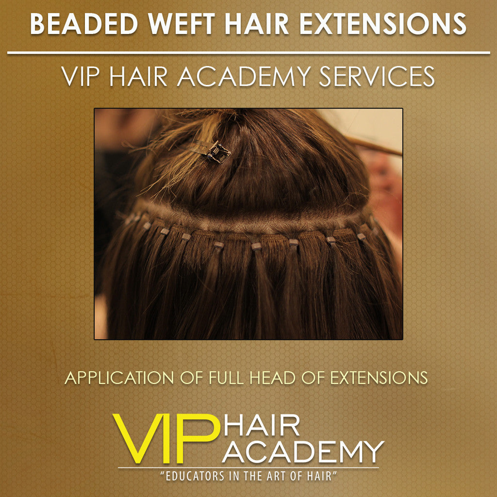Beaded Micro Weft Hair Extensions Services