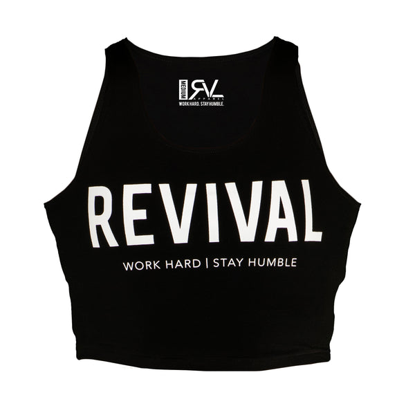 Training - Women's Crop Top - Black/White