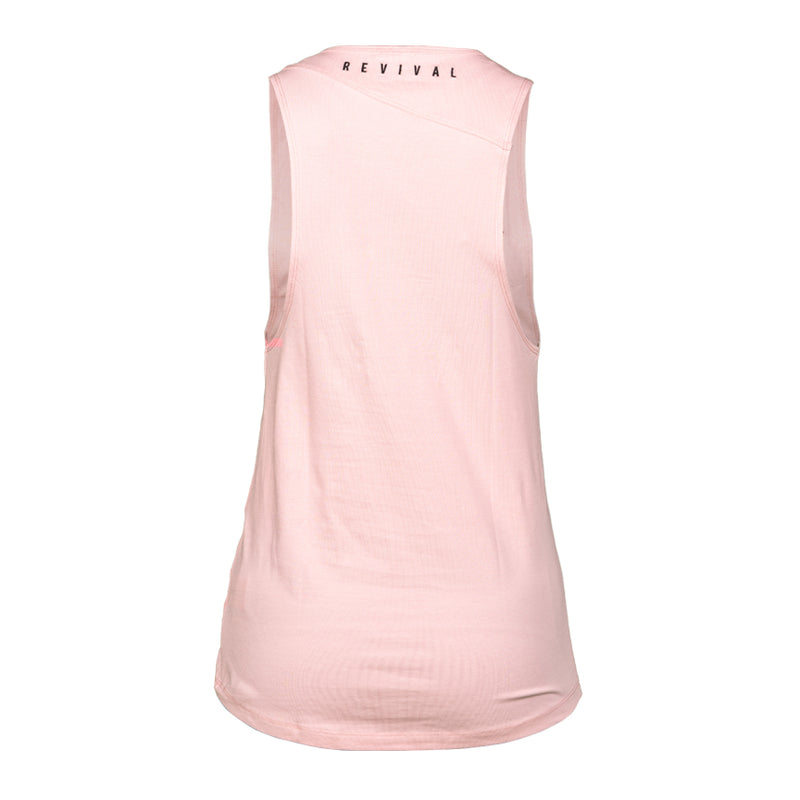 Absolute - Women's Muscle Tank - Blush/Black