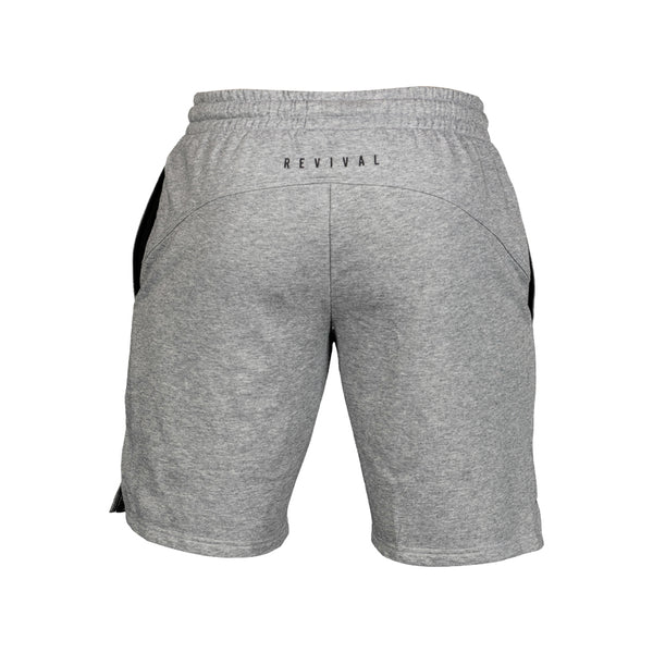 Essential Sweat Shorts - Heather Grey/Black