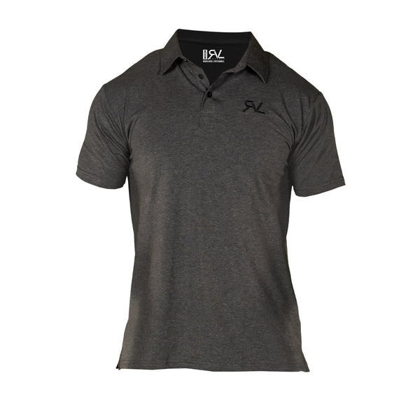 Absolute - Men's Polo - Dark Grey/Black