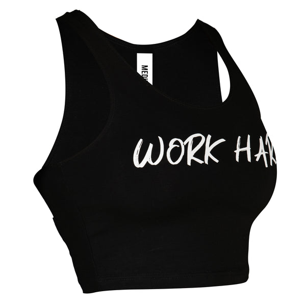 Routine - Women's Crop Top - Black/White