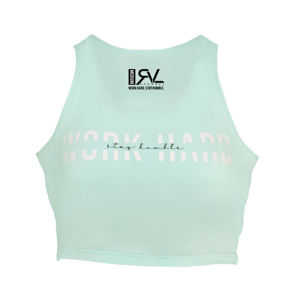 Attribute - Women's Crop Top - Teal/White