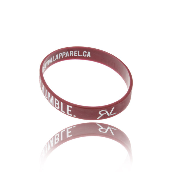 The Motto - Bracelet - Maroon/White