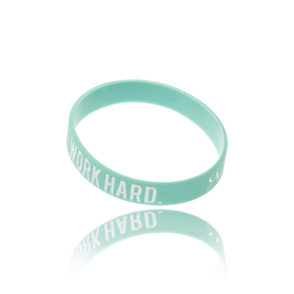 The Motto - Bracelet - Teal/White