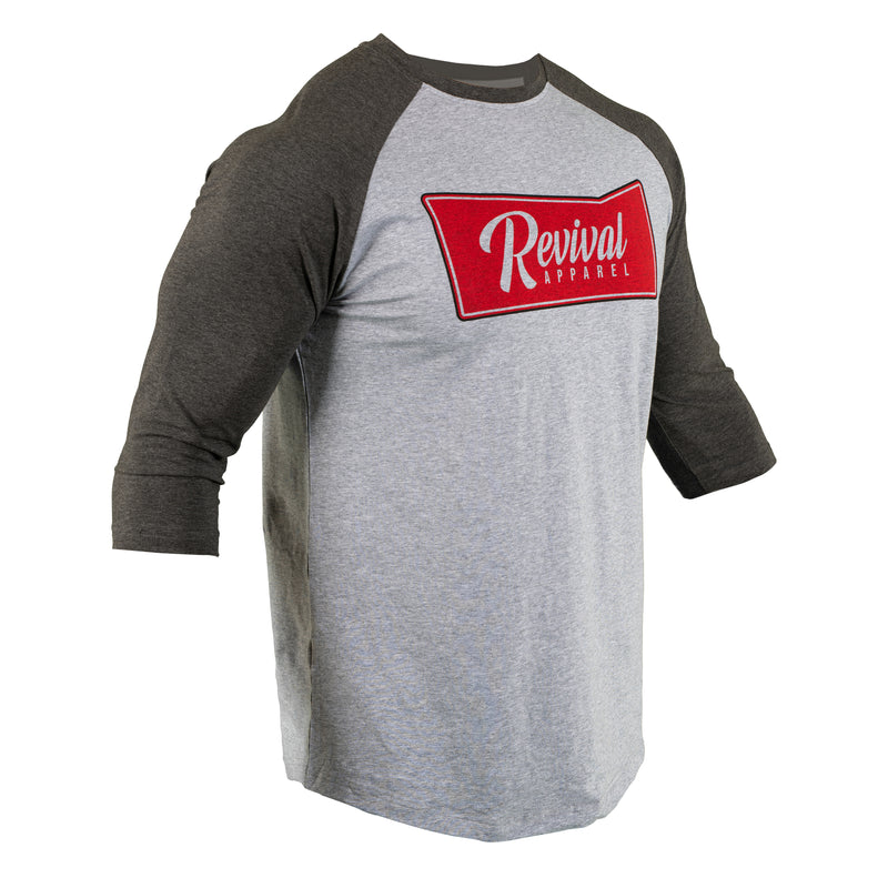 District - Baseball Tee - Heather Grey/Dark Grey