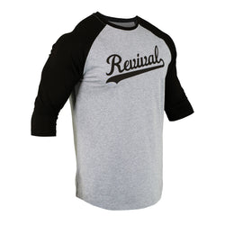 Iconic - Baseball Tee - Heather Grey/Black