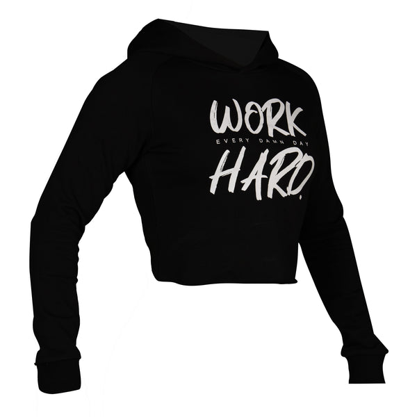 Approach - Women's Crop Hoodie - Black/White