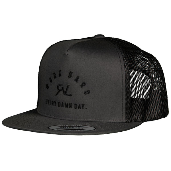 Algorithm - Trucker Flat Brim - Dark Grey/Black - 2 Tone
