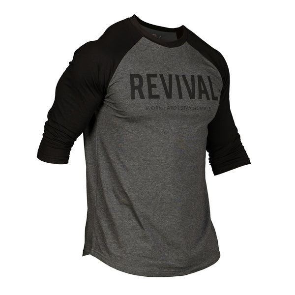 Training Baseball Tee - Dark Grey/Black