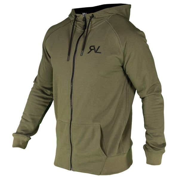 Endurance - Zip Up Hoodie  - Military Green
