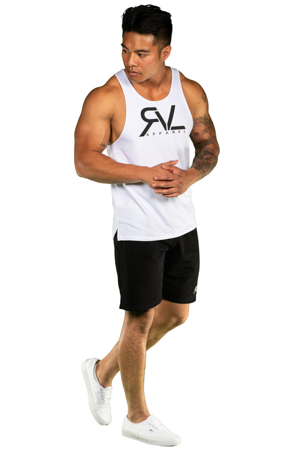 Signature - Men's Tank - White/Black