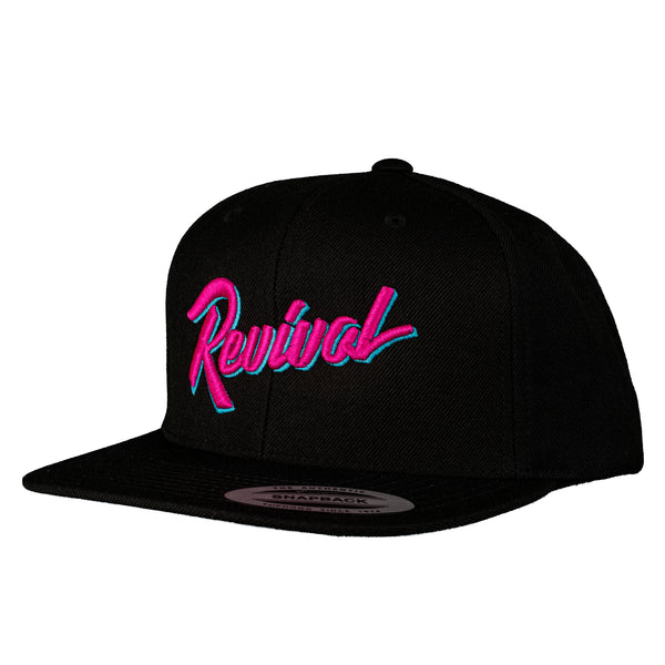 Miami Nights - Black/Pink - Retro Snapback