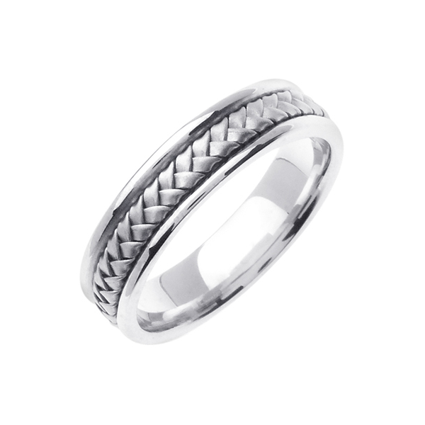 14K WHITE GOLD WEDDING BAND