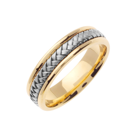 14K 2-TONE GOLD WEDDING BAND
