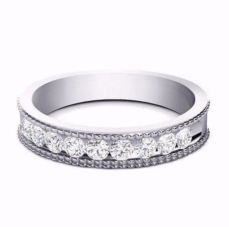 0.27CT TW Diamond Vintage Band 18K Gold